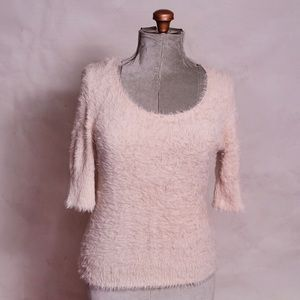 Anthropologie Knitted & Knotted Soft Blush Shirt